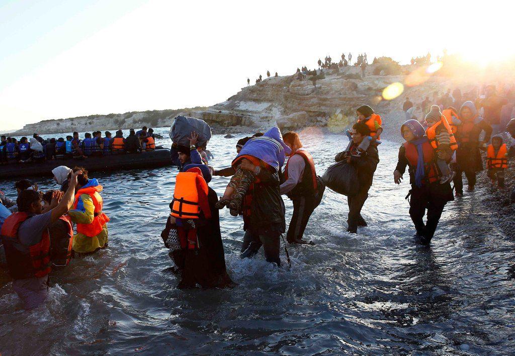 Lancha de refugidados
