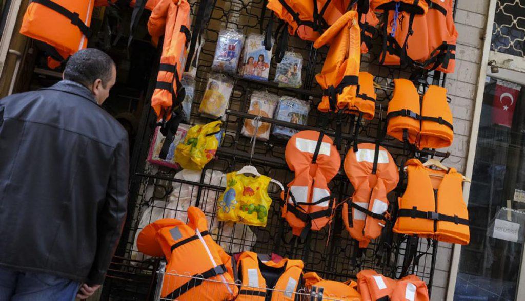 Tienda de chalecos en Turquía